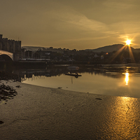 Buy canvas prints of Conwy harbour and castle by Paul Madden