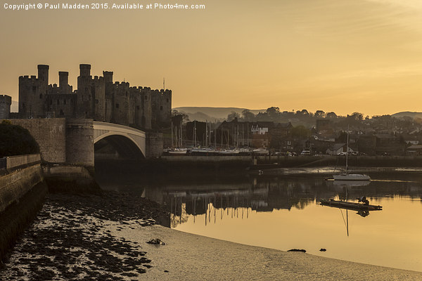 Conwy Castle and harbour Canvas print by Paul Madden