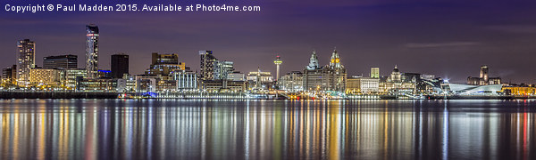 The Liverpool Waterfront Skyline Canvas print by Paul Madden