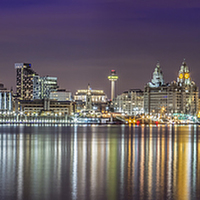 Buy canvas prints of The Liverpool Waterfront Skyline by Paul Madden