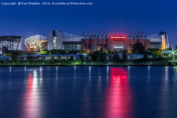 Old Trafford from Salford Quays Canvas print by Paul Madden
