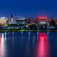 Buy canvas prints of Old Trafford from Salford Quays by Paul Madden