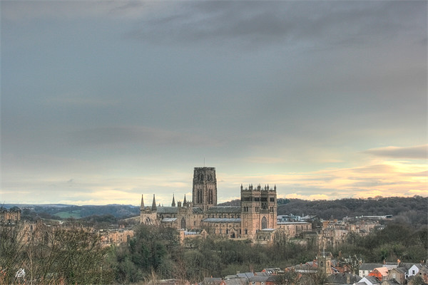 Durham Cathedral Colour HDR Canvas print by Paul Laddie