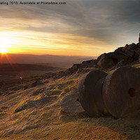 Buy canvas prints of Stanage Edge Sunset by Mick Gosling