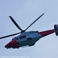 Buy canvas prints of UK Coastguard Helicopter by Malcolm Snook