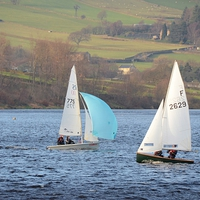 Buy canvas prints of Dinghy Racing In Winter by Malcolm Snook