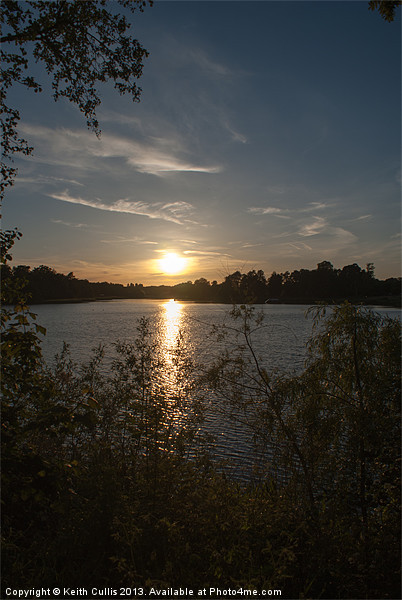 Lake Sunset Canvas print by Keith Cullis