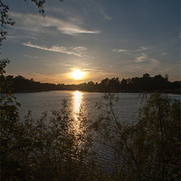 Buy canvas prints of Lake Sunset by Keith Cullis