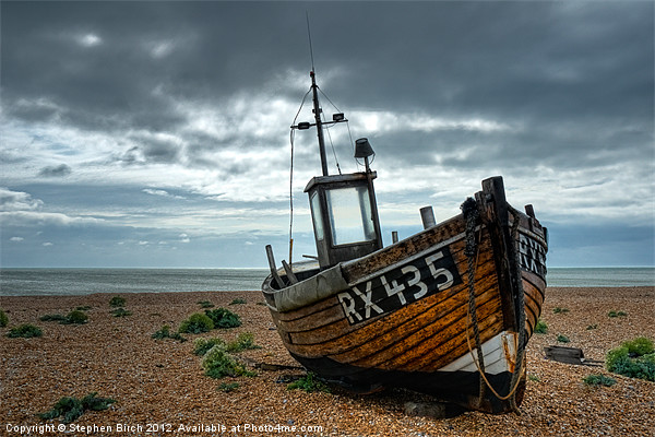 Fishing Boat at Dungeness, Kent Canvas print by Stephen Birch