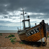 Buy canvas prints of Fishing Boat at Dungeness, Kent by Stephen Birch