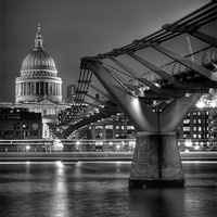 Buy canvas prints of St Paul''s Cathedral and the Millenium Briddge by Stephen Birch