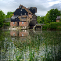 Buy canvas prints of Houghton Mill by Stephen Birch