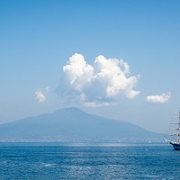 Buy canvas prints of Boat and Vesuvius  by Stephen Birch
