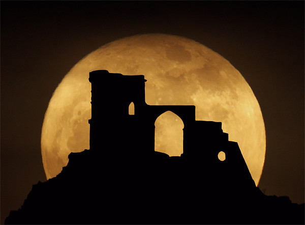 Mow Cop Super Moon Canvas print by Peter J Bailey