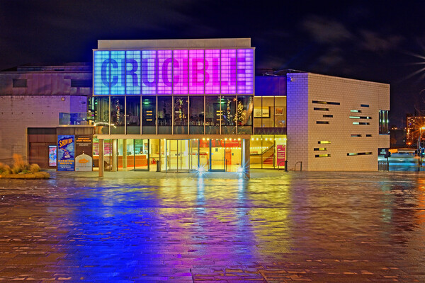 The Crucible Theatre, Sheffield  Canvas Print by Darren Galpin