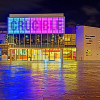 Buy canvas prints of The Crucible Theatre, Sheffield  by Darren Galpin