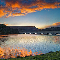 Buy canvas prints of Ladybower Sunrise by Darren Galpin