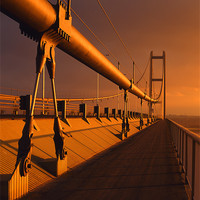 Buy canvas prints of Humber Bridge Sunset by Darren  Galpin