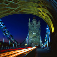 Buy canvas prints of Tower Bridge London at Night by Darren  Galpin
