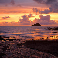 Buy canvas prints of Wembury Bay Sunset by Darren  Galpin