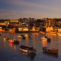 Buy canvas prints of St Ives Harbour by Darren  Galpin