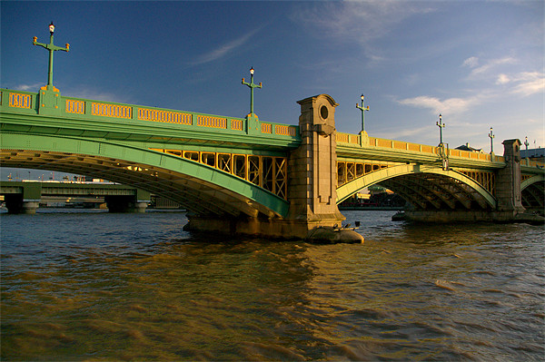 Southwark Bridge & River Thames,London Canvas print by Darren  Galpin