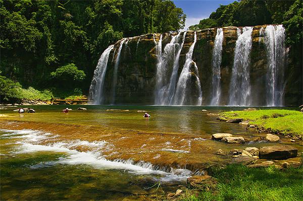 Tinuy-an Falls, Mindanao, Philippines Canvas print by Darren  Galpin