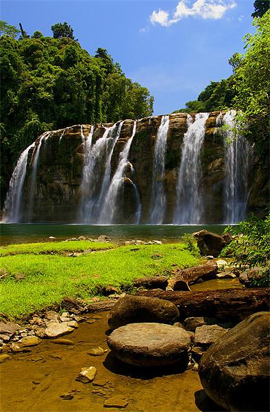 Tinuy-an Falls,Mindanao,Philippines Canvas print by Darren  Galpin