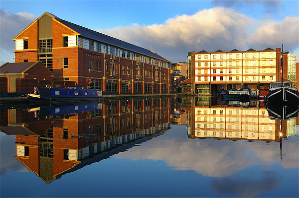 Victoria Quays,Sheffield Framed Mounted Print by Darren  Galpin