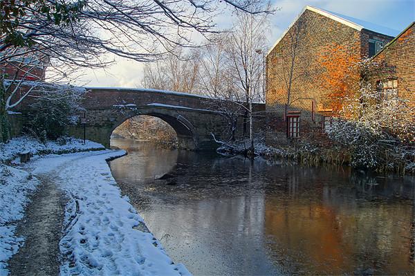 Bacon Lane Bridge & Sheffield Canal Framed Mounted Print by Darren  Galpin