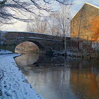 Buy canvas prints of Bacon Lane Bridge & Sheffield Canal by Darren  Galpin