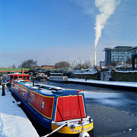 Buy canvas prints of Sheffield Canal at Victoria Quays by Darren  Galpin
