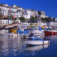 Buy canvas prints of Brixham Harbour by Darren  Galpin