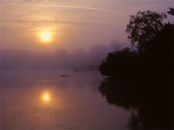 Chard Reservoir Sunrise Canvas print by Darren  Galpin