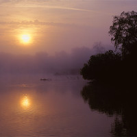 Buy canvas prints of Chard Reservoir Sunrise by Darren  Galpin