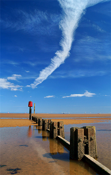 Cleethorpes Beach at Low Tide Canvas print by Darren  Galpin