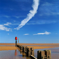 Buy canvas prints of Cleethorpes Beach at Low Tide by Darren  Galpin