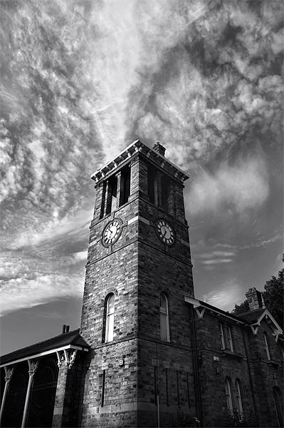 Firth Park Clock Tower, Sheffield Framed Mounted Print by Darren  Galpin