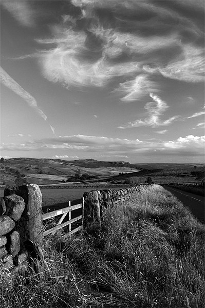 View Towards Over Owler Tor & Millstone Edge Canvas print by Darren  Galpin
