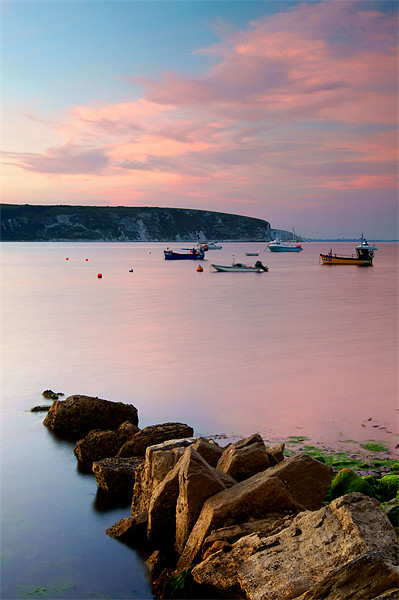 Looking across Swanage Bay, Dorset Canvas print by Darren  Galpin