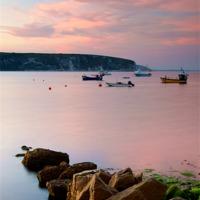 Buy canvas prints of Looking across Swanage Bay, Dorset by Darren  Galpin