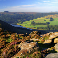 Buy canvas prints of View Across Ladybower Reservoir by Darren  Galpin
