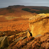 Buy canvas prints of Golden light in Burbage Valley by Darren  Galpin