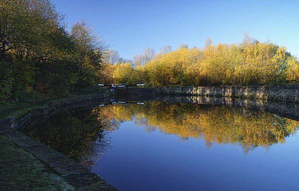 Sheffield Canal Reflections Framed Mounted Print by Darren  Galpin