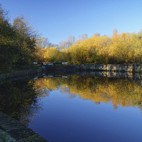 Buy canvas prints of Sheffield Canal Reflections by Darren  Galpin