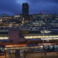 Buy canvas prints of Sheffield Skyline at Night by Darren  Galpin