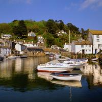 Buy canvas prints of Polperro Harbour by Darren  Galpin