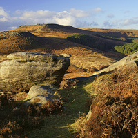 Buy canvas prints of Burbage Rocks by Darren  Galpin
