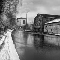 Buy canvas prints of Sheffield Canal Frozen by Darren  Galpin