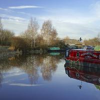 Buy canvas prints of Tinsley Marina by Darren  Galpin